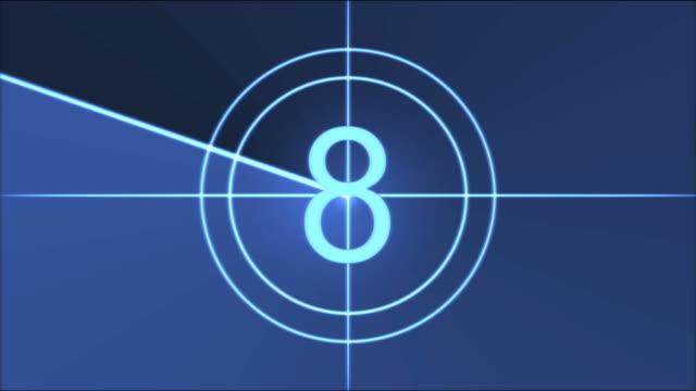 vídeos y material grabado en eventos de stock de animación película de cuenta atrás-azul - cuenta atrás