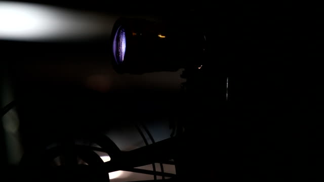 Movie Film projector a Movie Film projector projection equipment stock videos & royalty-free footage