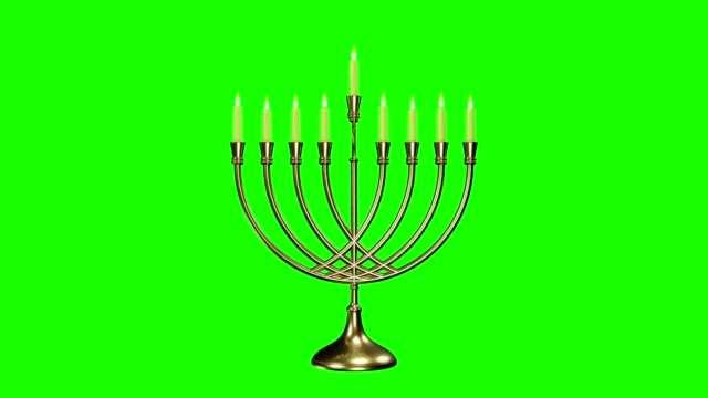 Movie of jewish holiday Hanukkah background with menorah Movie of jewish holiday Hanukkah background with menorah (traditional candelabra) and burning candles. hanukkah stock videos & royalty-free footage