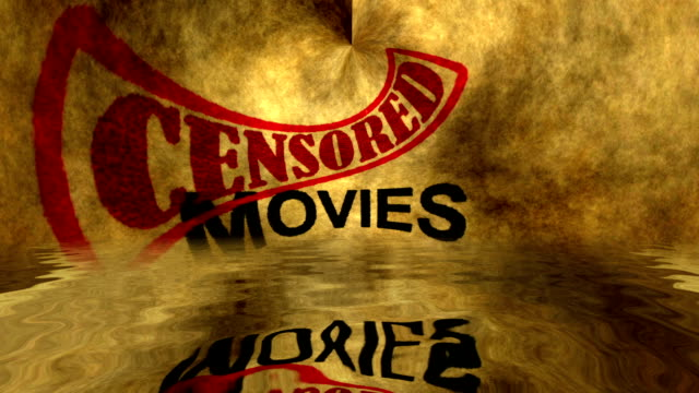 Movies censored text grunge concept video
