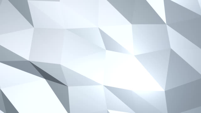 Moving abstract 3d white background with chaotic polygonal structure video