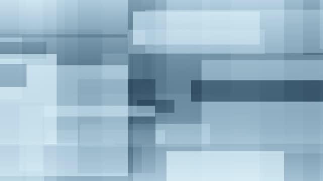 vídeos de stock, filmes e b-roll de retângulos azuis abstratos em movimento de fundo - padrão repetido