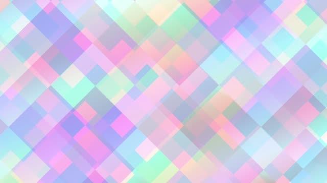 抽象的な幾何学的なパターンを移動します。 - ローポリモデリング点の映像素材/bロール