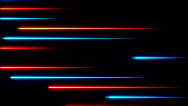 moving abstract neon lines in space, 3d rendering - энергичность стоковые видео и кадры b-roll