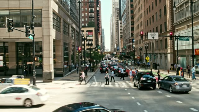 Moving around Chicago Real time video of the streets of Chicago, USA chicago stock videos & royalty-free footage