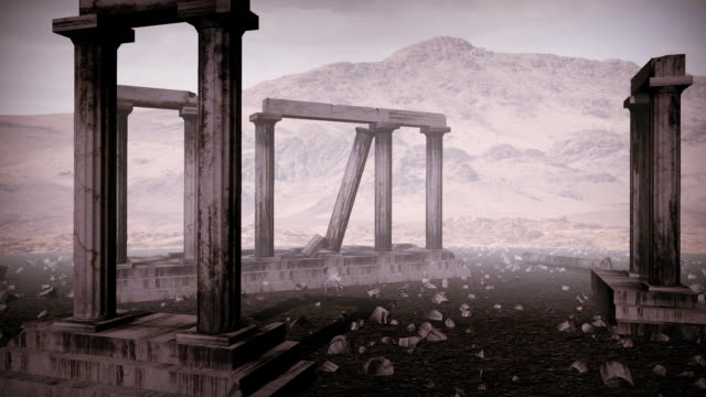 Moving around the remains of an ancient greek temple video