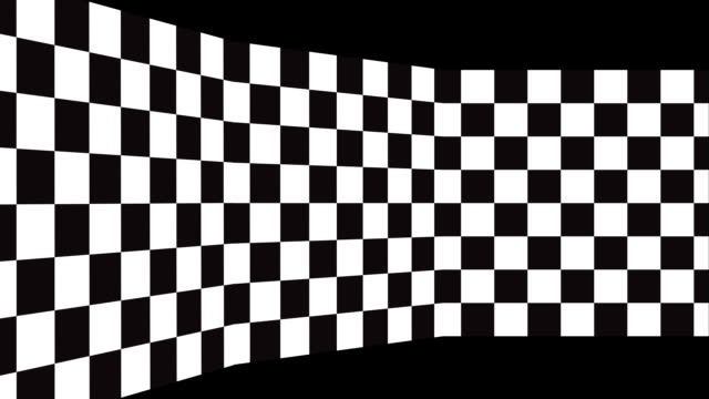 moving background chessboard pattern in perspective, black and white geometric design. - a quadri video stock e b–roll
