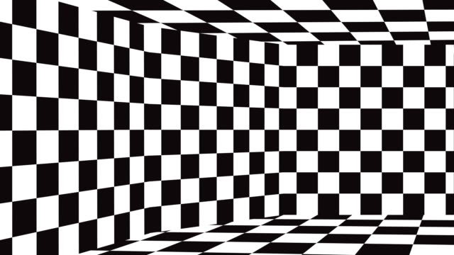 moving background chessboard pattern in perspective, black and white geometric design. - chess stock videos & royalty-free footage