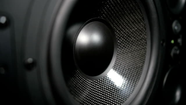 Moving black sub-woofer video