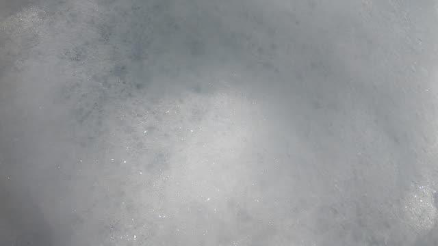Moving  Bubble soap texture.