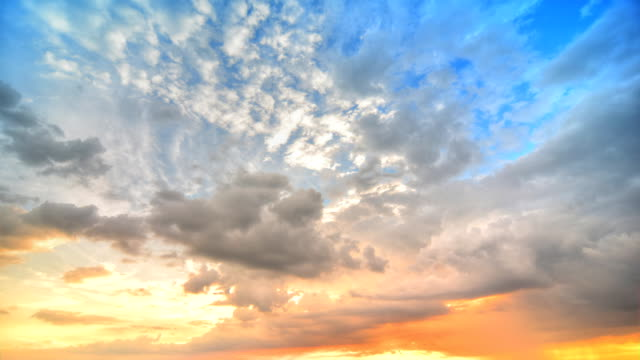Moving cloud at Sunset (HDR) video