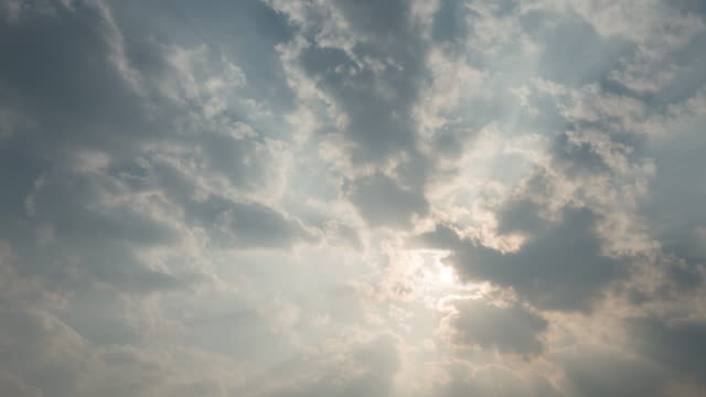 Moving clouds and sunshine Timelapse, 4k (UHD) video