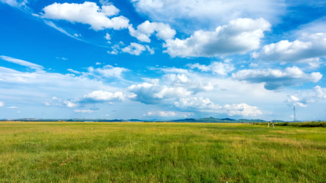 Moving clouds in plain Moving clouds in plain prairie stock videos & royalty-free footage