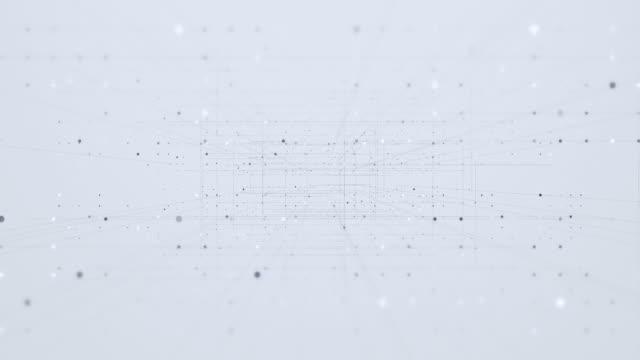 vídeos de stock, filmes e b-roll de movendo linhas de conexão com pontos manchados - joining the dots