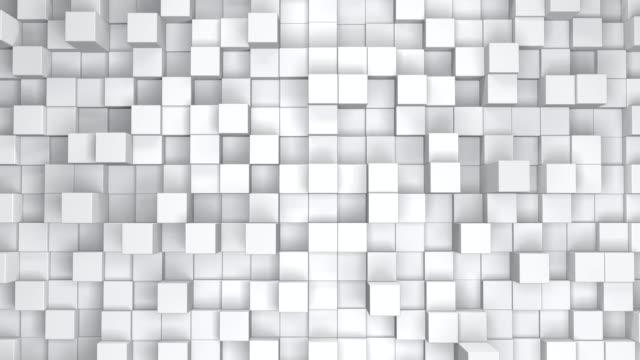 vídeos y material grabado en eventos de stock de cubos móviles de fondo animación - mosaico