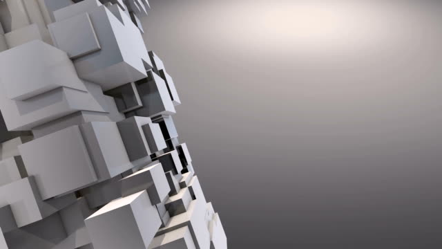 moving cubes background video
