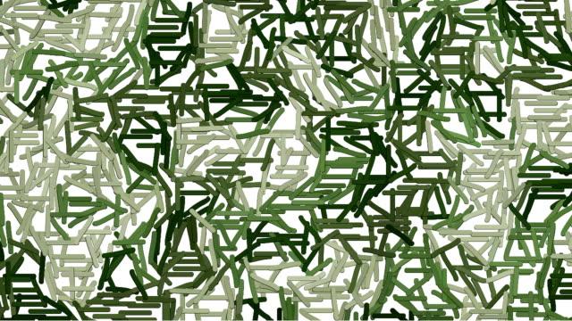 Moving dashes khaki camouflage background video