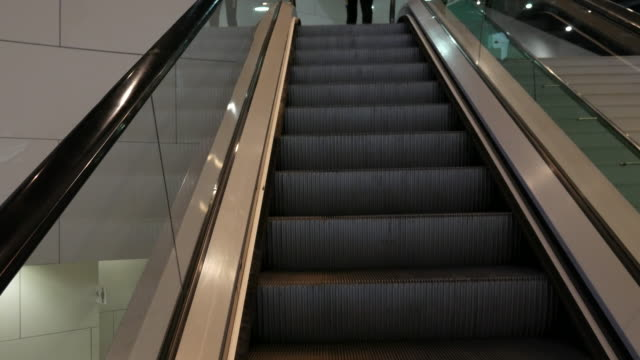 4K moving escalator up video