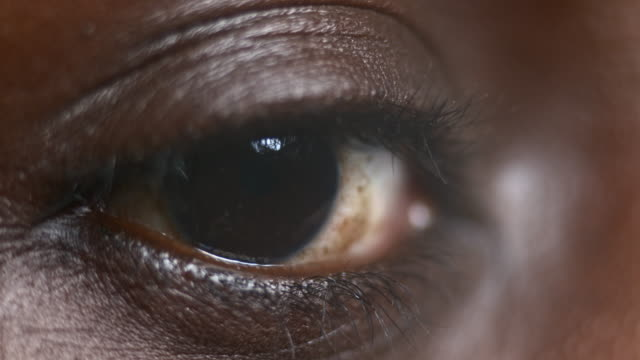 ECU Moving eye of an African-American person video