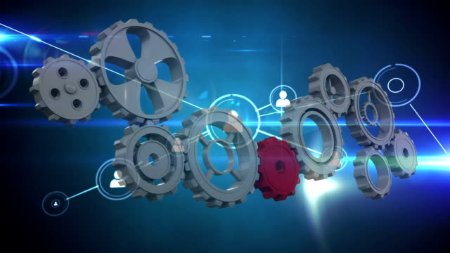 Moving gears and profile icon