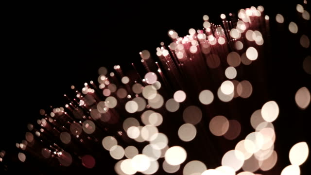 Moving glamour bokeh lights background with wind blowing video