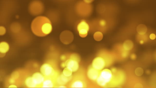 Moving golden glittering particles, 4K video video