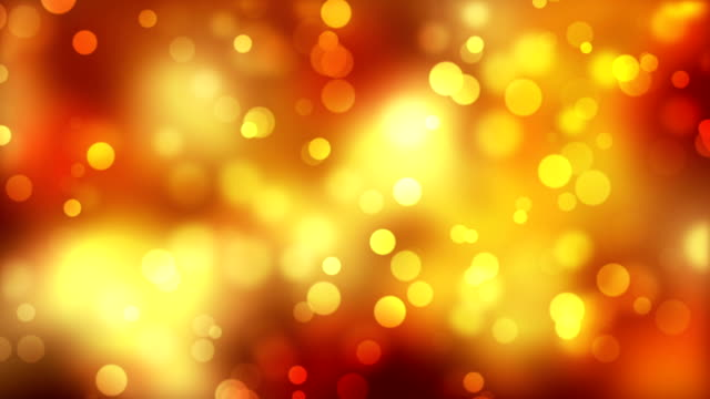 Moving Golden Particles Abstract Background video