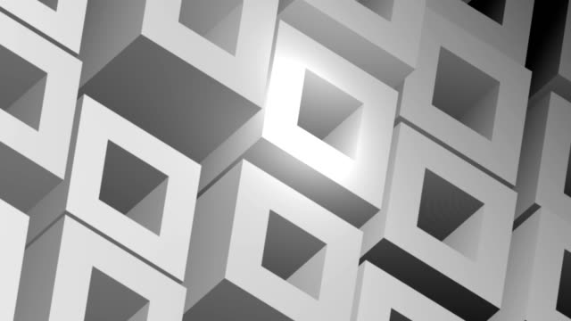 Moving Grey Cubes Business Background 4k Video Animation Loop. Moving White and Grey Front Blocks Background 4k Video Seamless Loop Animation. square composition stock videos & royalty-free footage