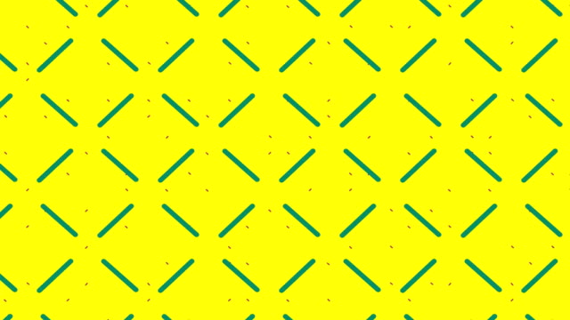 Moving grid on yellow background