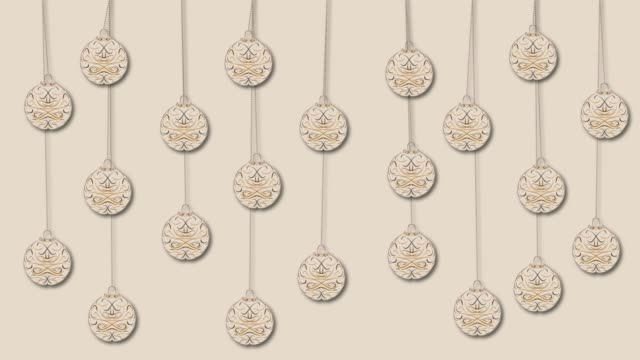 moving hanged christmas ornaments Christmas seamless motion background. Hanged christmas ornaments moving and swinging on the background. Loop able video. mosaic stock videos & royalty-free footage