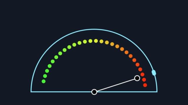 vidéos et rushes de compteur de vitesse mobile high tec. animation abstraite - cadran
