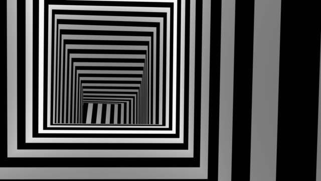 Moving Inside Tunnel Abstract background, loop, created in 4K, 3d animation illusion stock videos & royalty-free footage
