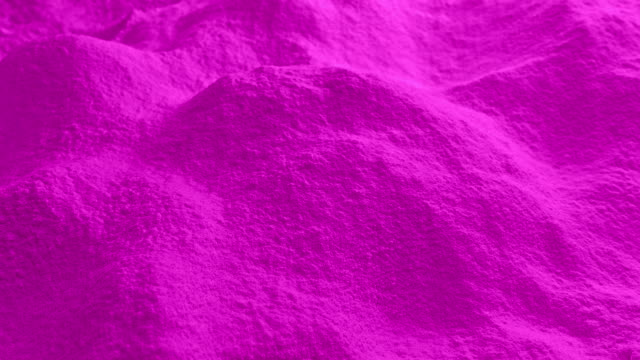 Moving Over Pink Powder Dolly shot moving slowly over pile of pink powder painting art product stock videos & royalty-free footage
