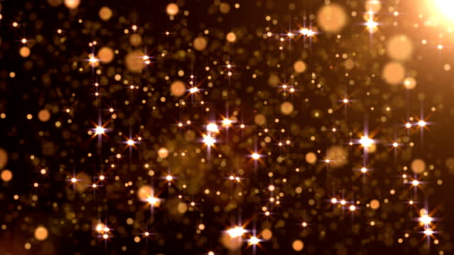 перемещение частиц петли - абстрактный желтый фон - состаривание стоковые видео и кадры b-roll