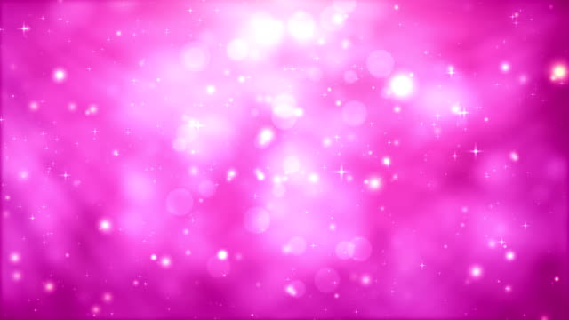 Moving Particles Loop - Pink Glittering in light rays video