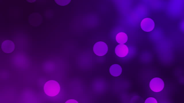 Moving Particles On Purple Colour Background