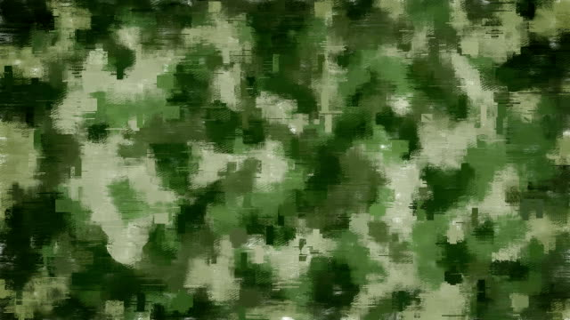 Moving pixel camouflage background video