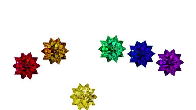 Moving Pride Rainbow Lucite Stars