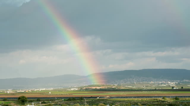 Moving Rainbow over the fields of Galilee video