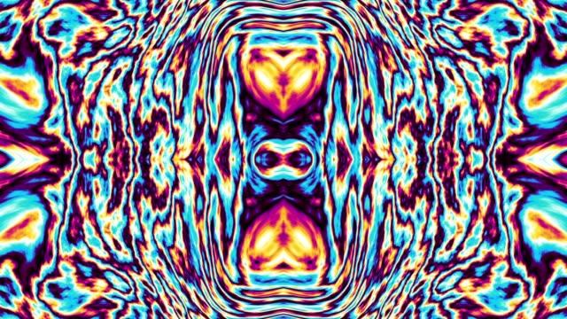 vídeos de stock, filmes e b-roll de em movimento aleatória psicodélica textura ondulada. - organic shapes