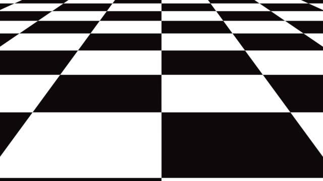 verschieben sie nahtlose hintergrund schachbrettmuster in perspektive, schwarze und weiße geometrischen design. - karo stock-videos und b-roll-filmmaterial