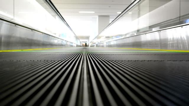 moving sidewalk, escalator walkway. video