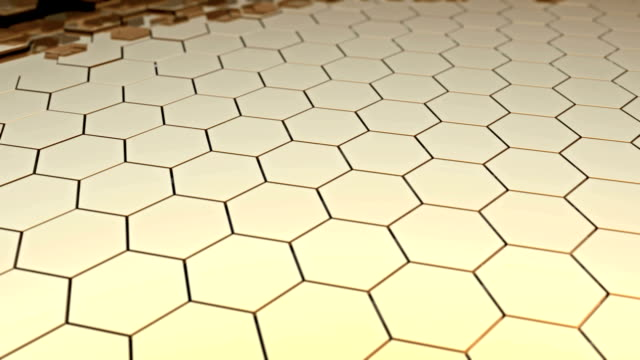 moving stage of honeycomb surface video