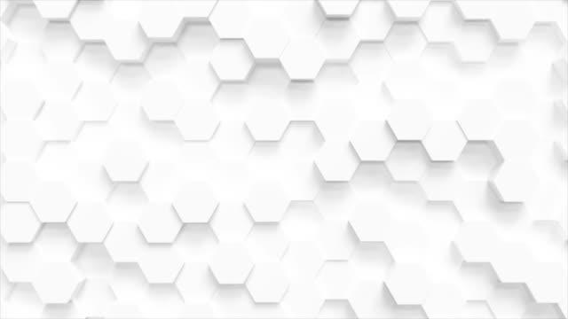 moving technology hexagon pattern background