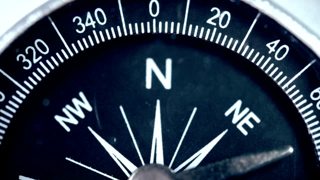 Moving the arrow of the revolving compass Moving the arrow of the revolving compass FullHD navigational compass stock videos & royalty-free footage