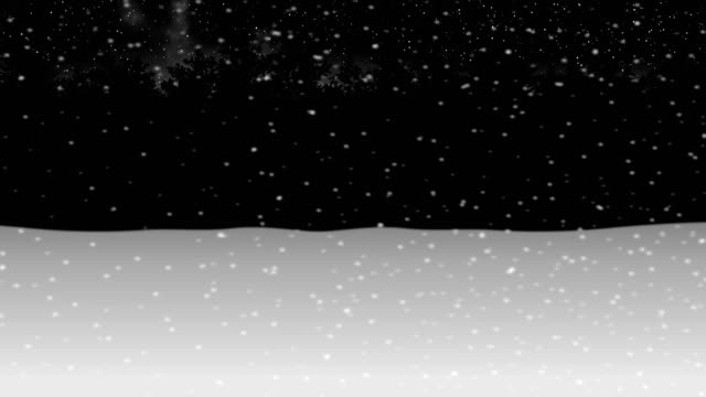 moving through night winter snow forest animation2
