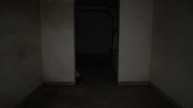 moving through spooky hallway. - basement stock videos & royalty-free footage