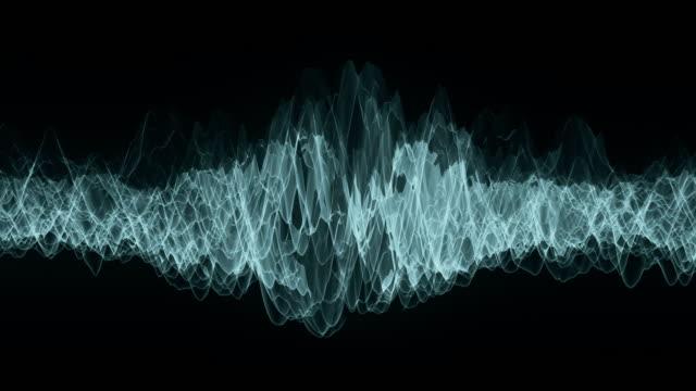 移動波形は未知の周波数を示します。 - 曲線点の映像素材/bロール