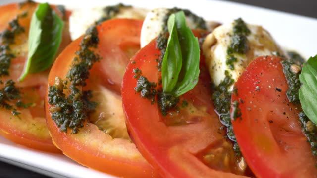 Mozzarella cheese and tomato salad