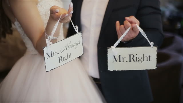 Mr.Right und Mrs.always rechts – Video